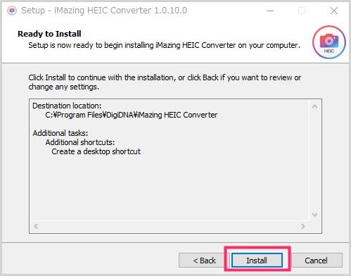 iMazing HEIC Converter のインストール手順05