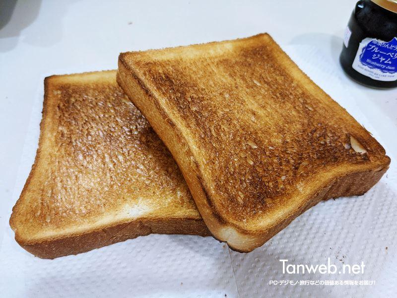 NT-T501で焼いたトースト