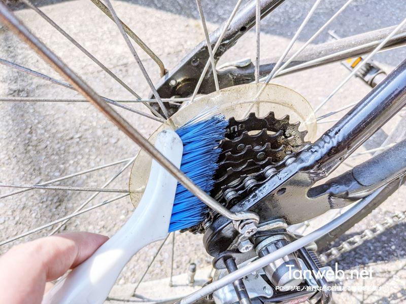 自転車のギア清掃