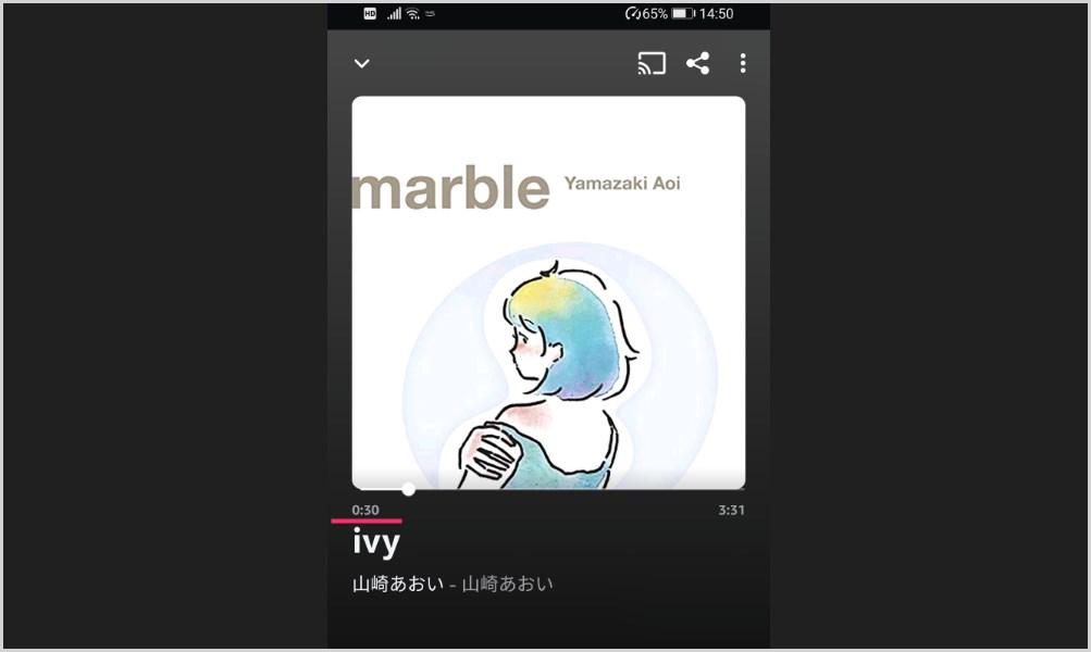 Amazon Music のスマホアプリで曲を聴いていたら途中で止まってしまう