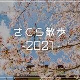 さくら散歩 2021 – コロナ禍なので近場の桜を中心に観賞しました
