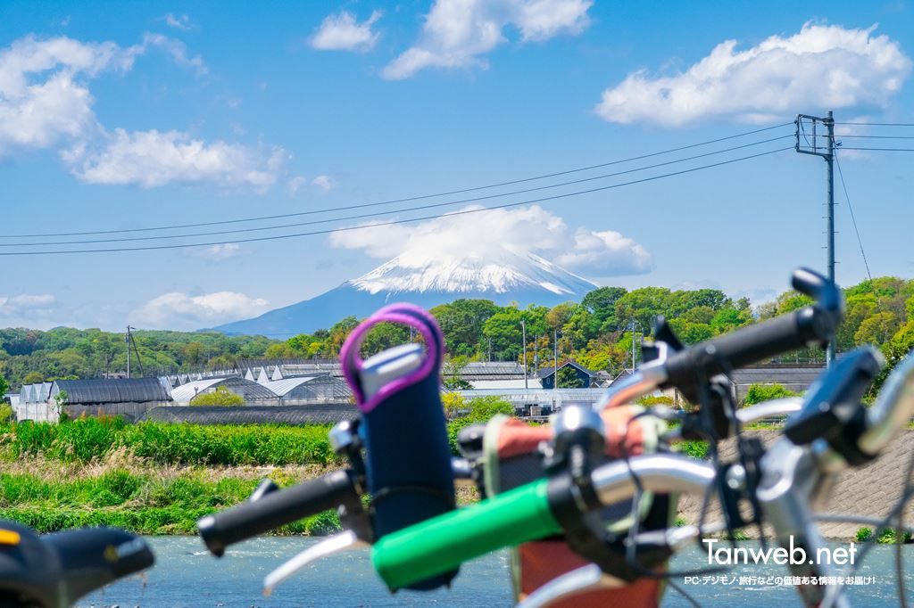 鈴川沿いの富士山スポット