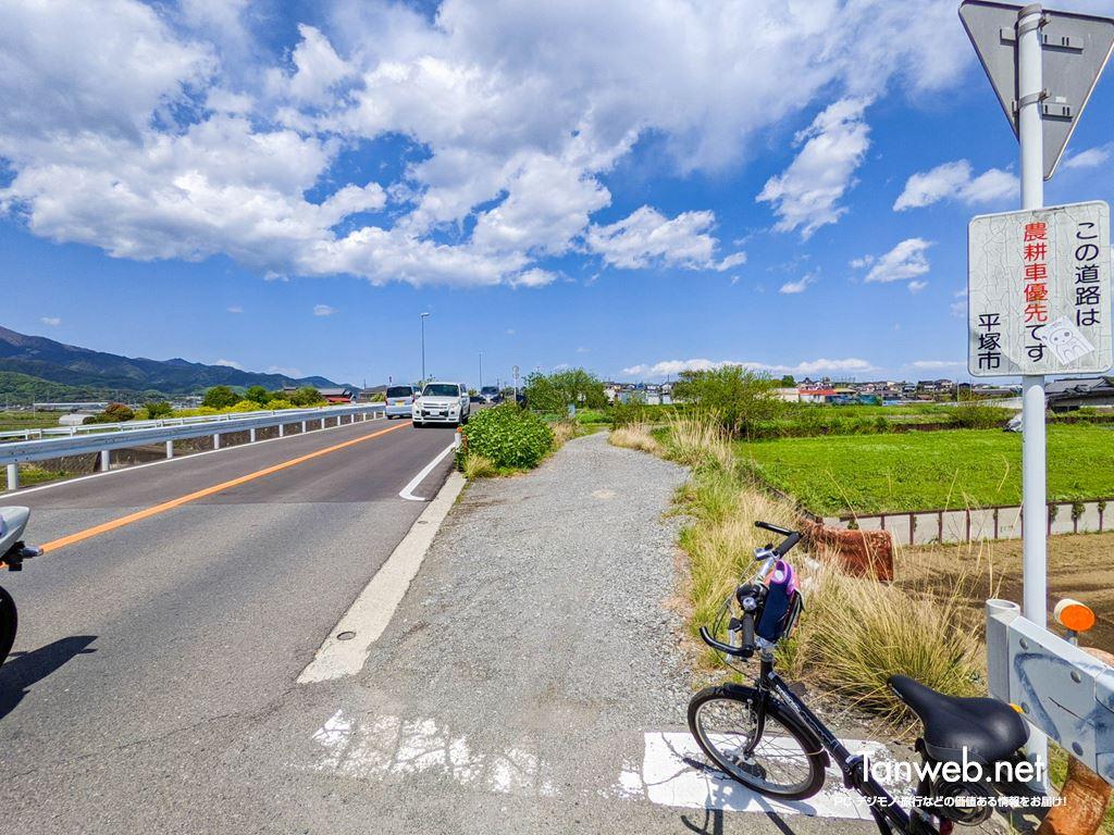 金目川サイクリングコース「鈴川沿い入り口」