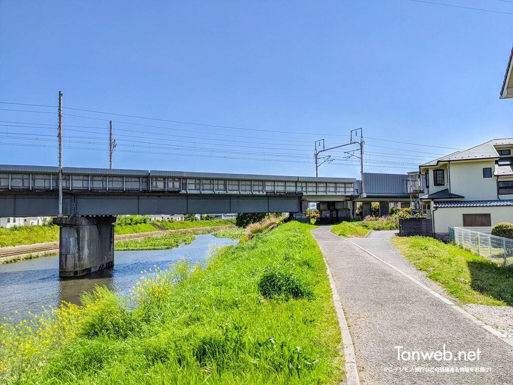 鈴川沿いコースの「新幹線高架」