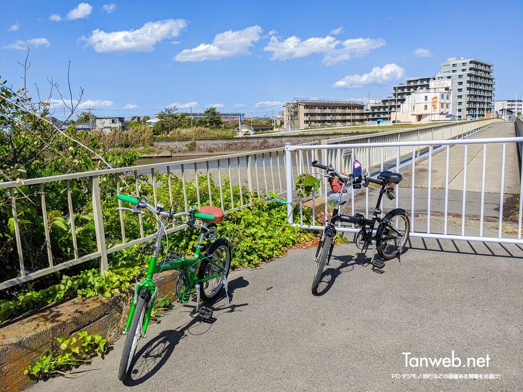 金目川サイクリングコースのゴール