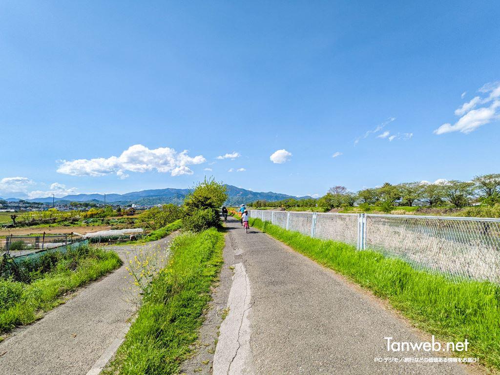 金目川サイクリングコース「金目川沿いの富士山スポット」