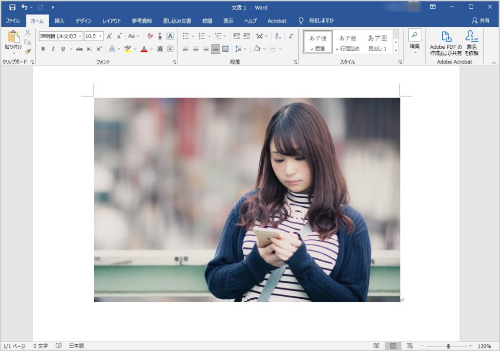 Word 背景を削除&部分切り取りをして透過画像を作成する手順01
