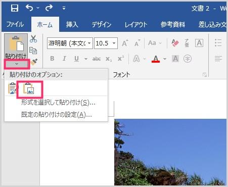 Word で作成した合成写真を JPG 画像で保存する手順03