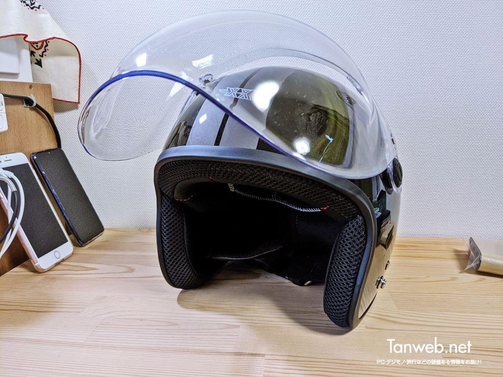 ジェットヘルメット「TNK工業 XX-606」外観&内装を紹介07