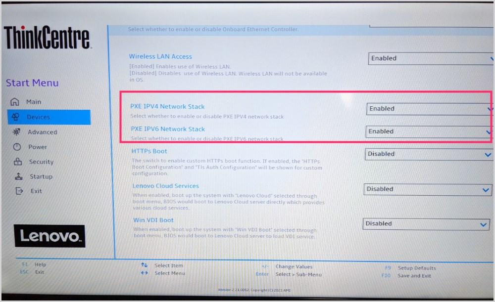 Start PXE over IPv6 が出た時の対処方法02