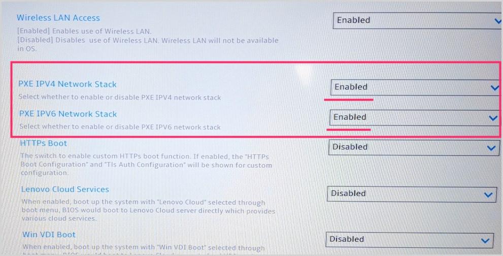 Start PXE over IPv6 が出た時の対処方法03