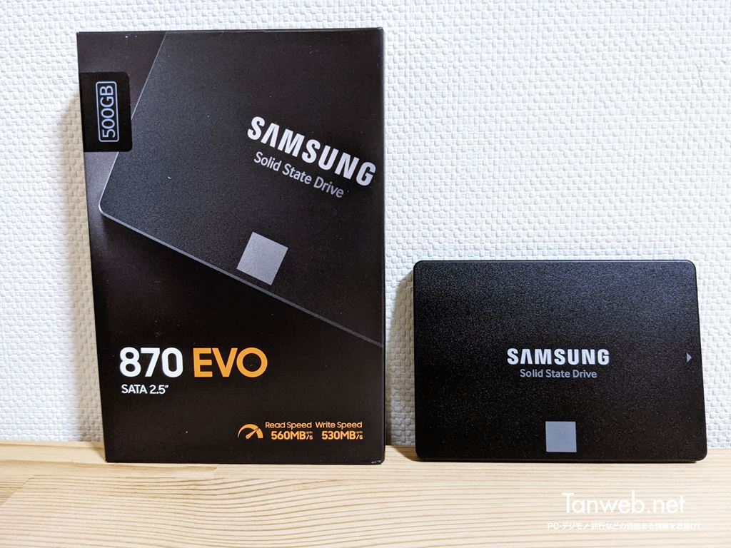 Samsung 製 SSD 870 EVO