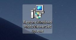 Restore Windows Photo Viewer のインストール手順02