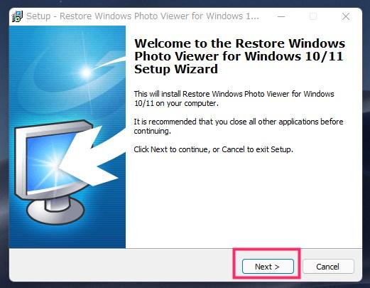 Restore Windows Photo Viewer のインストール手順05
